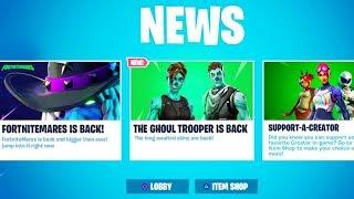 The GHOUL TROOPER Skin RETURNS in Fortnite!