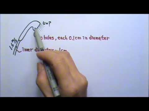 continuity equation physics. ap physics 2: fluid mechanics 18: equation of continuity problem: shower head