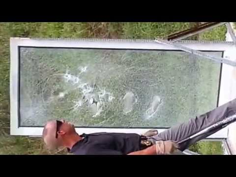 Security Window Film >> 3M Ultra 600 Security Window Film Test by Manchester PD of NJ - YouTube