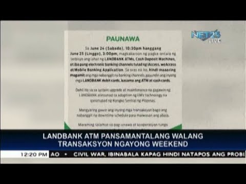 Landbank ATM transactions to be suspended this weekend