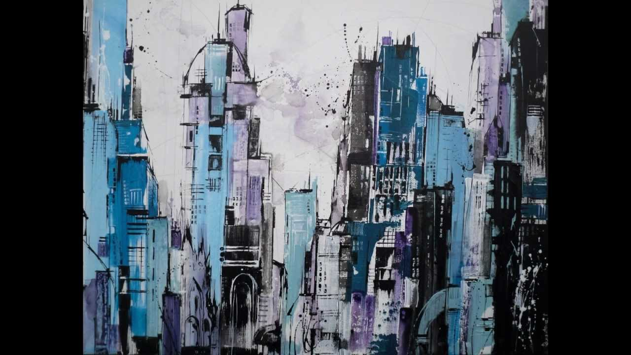 London Buildings Abstract Paintings