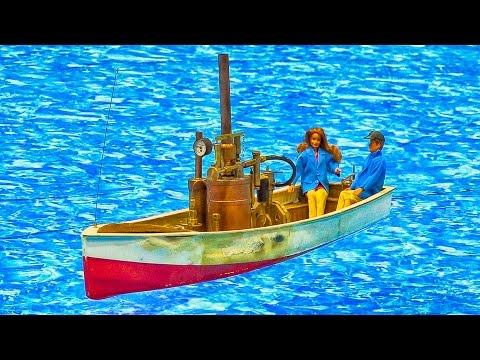AMAZING!!! REAL STEAM ENGINE BOAT RC MODEL / Fair Leipzig Germany 2016