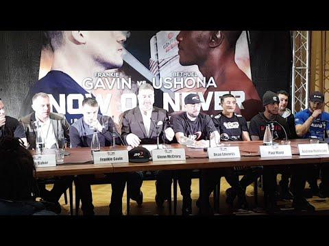 Frankie Gavin and BCB press conference in Birmingham