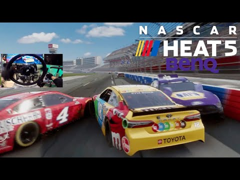 NASCAR Heat 5 Has 40 Player ONLINE SERVERS And Its FUN!! + WIN New BENQ Monitor!! |