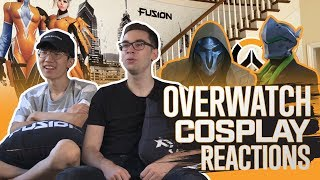 Fusion Reacts to Overwatch Cosplay   BlizzCon 2018