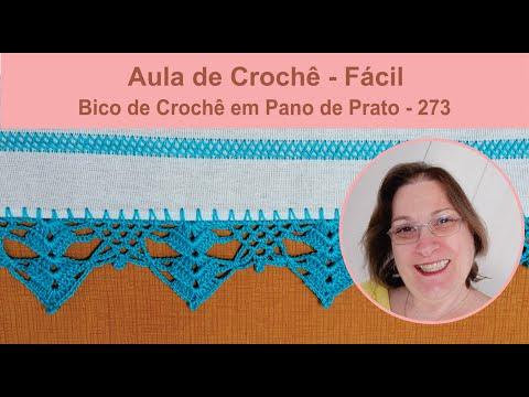 Bico de Crochê Para Pano de Prato Fácil - 273
