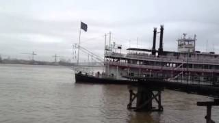 Paddle Steamer On The Mississippi In New Orleans