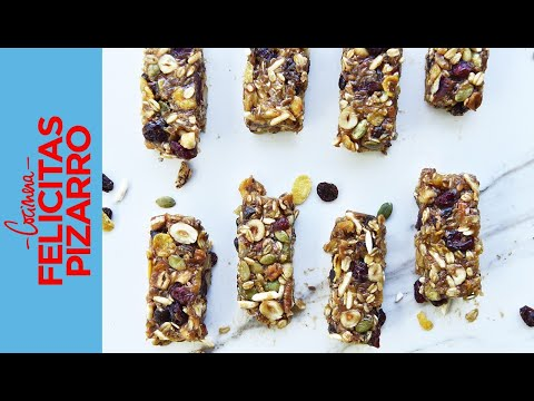 Barritas de Cereal sin horno | Felicitas Pizarro