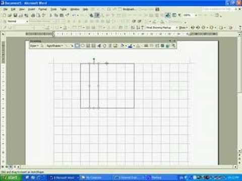 Drawing a Gridline in Microsoft Word 203 - YouTube - making graph paper in word