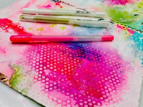 """Working in my """"Backgrounds"""" Art Journal . . ."""