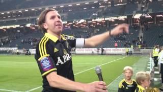 Nisse dar igång AIK-klacken (AIK-Malmö FF 2-1)