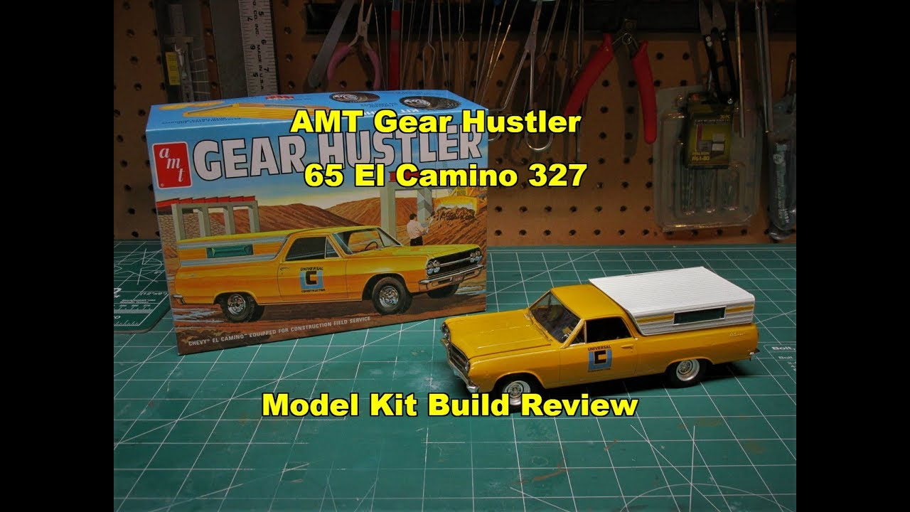 AMT 1965 CHEVY EL CAMINO GEAR HUSTLER 1/25 SCALE MODEL KIT ...
