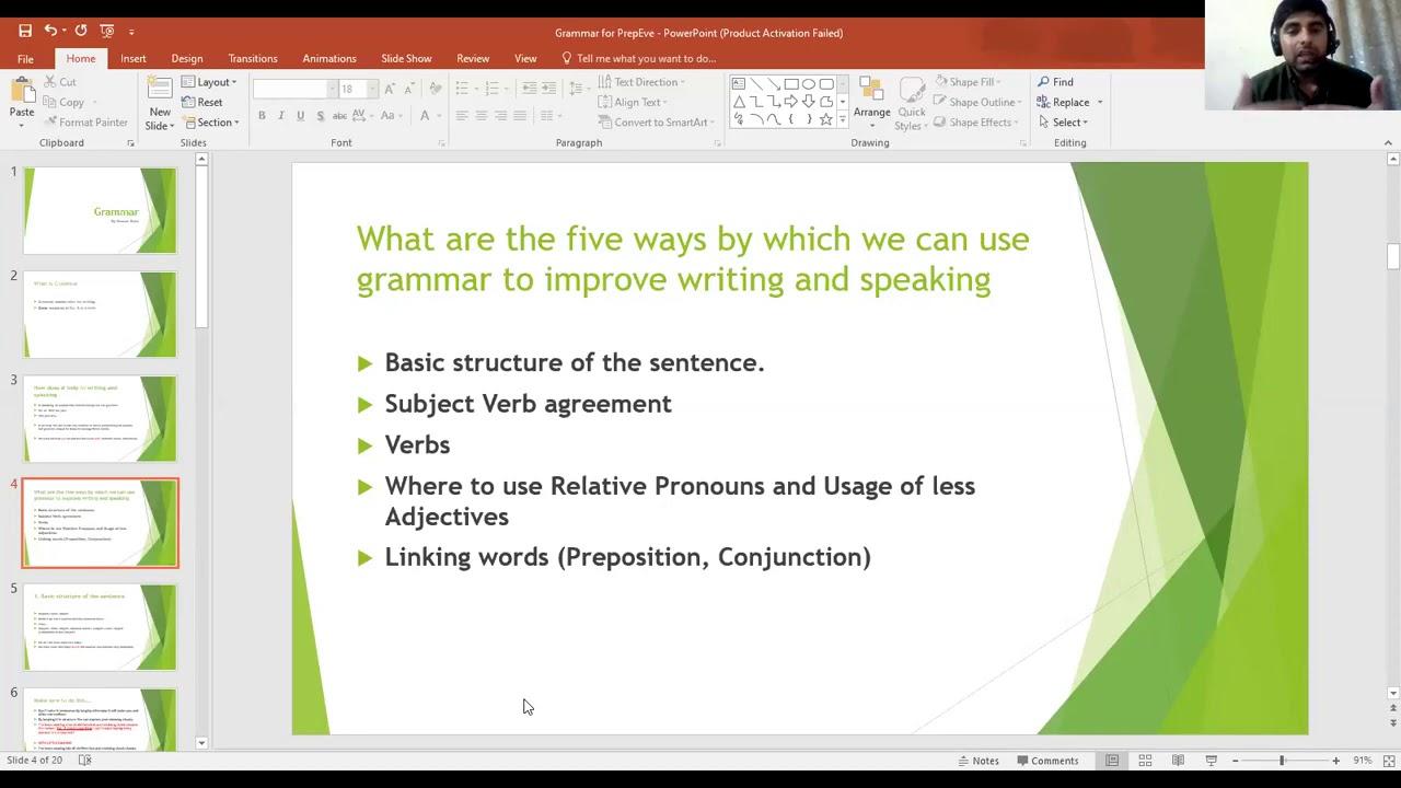 Grammar Masterclass for DuoLingo English Test - Basics & Common Grammatical Errors