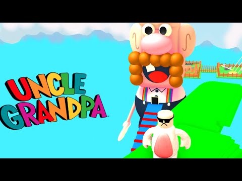 ROBLOX LET'S PLAY UNCLE GRANDPA OBBY | RADIOJH GAMES