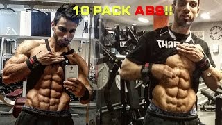 6-Pack abs? This guy has 10-pack!!!
