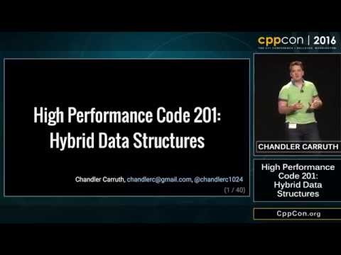 "CppCon 2016: Chandler Carruth ""High Performance Code 201: Hybrid Data Structures"""