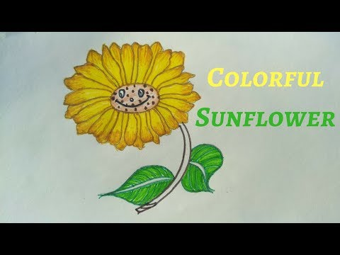 HOW TO COLOR A SUNFLOWER