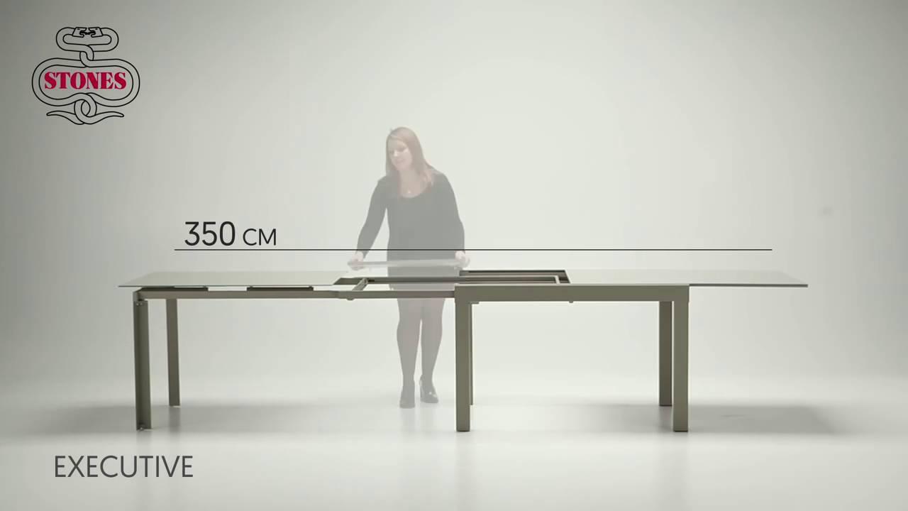 Stones Tavolo Executive da 1,2 a 3 5 metri - YouTube