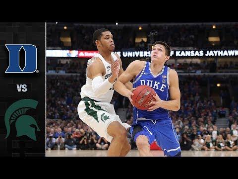 Duke vs Michigan State Basketb wendell carter