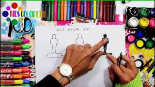 Coloring Oscar Statue And Learn To Color For Kids Kids Color Life Video 4k