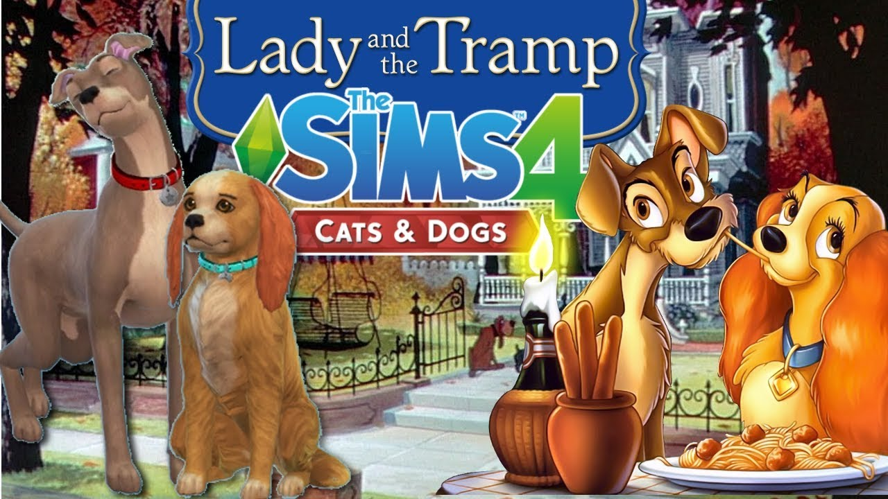 Lady And The Tramp Cas The Sims 4 Cats And Dogs Disney Youtube