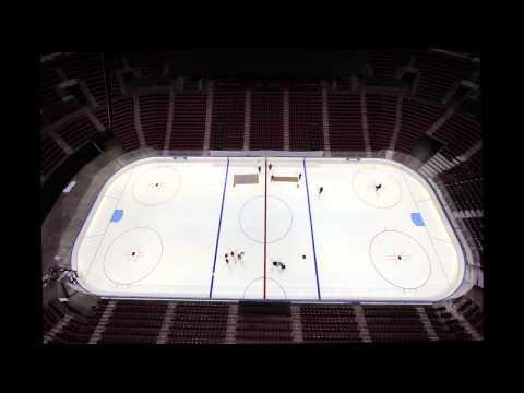 Florida Panthers Hockey Ice Rink Preparation
