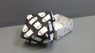 Halloween Origami Ghost Pattern Boxes - Print Your Own Paper!