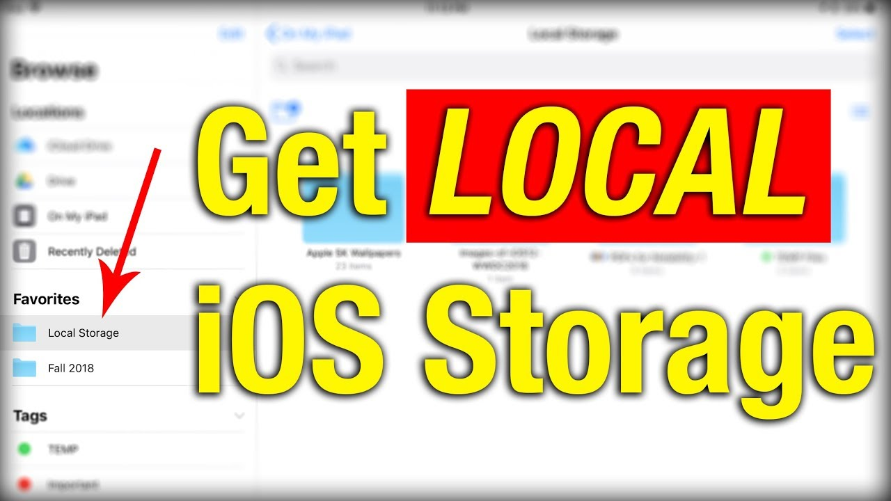 How To Access LOCAL STORAGE In iOS 11/12 Files App! [NOT iCloud]