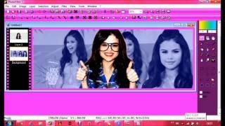 Tutorial Capa Selena Gomez Simples - PhotoFiltre By : Capas & Tutoriais