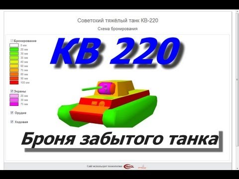 Схема брони забытого танка-КВ