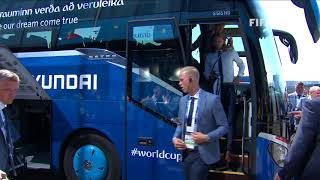 ICELAND ARRIVE - MATCH 7 @ 2018 FIFA World Cup™