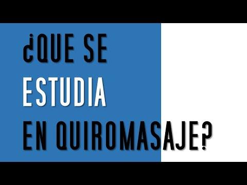 ¿Qué Se Estudia En Quiromasaje?