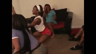 Girls twerk and dance seductively in front of their parent and 2 years old baby