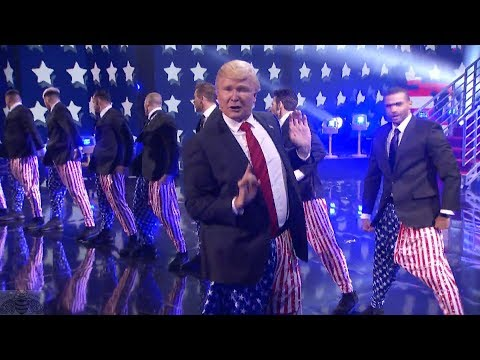 America's Got Talent 2017 The Singing Trump Performance & Comments Live Shows S12E13