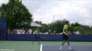 Juan Martin del Potro serve in slow motion HD