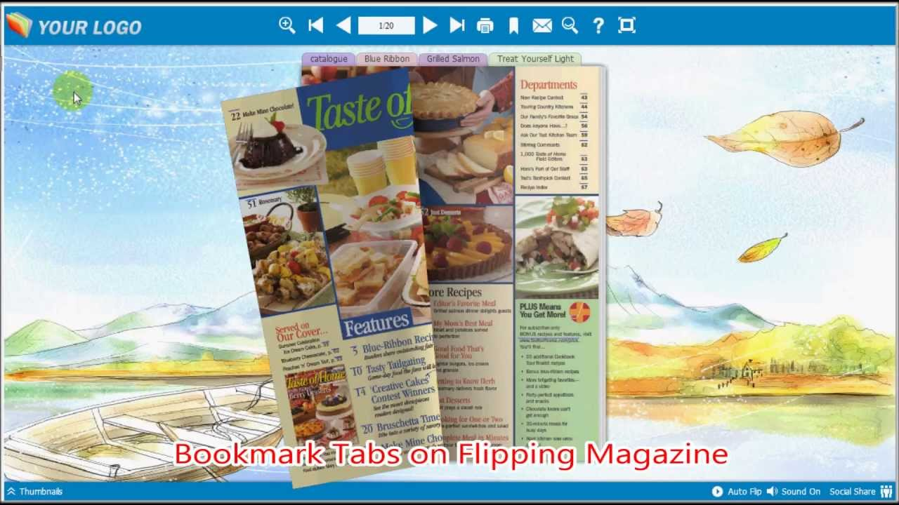 To create Bookmark Tabs on FlipBook by FlipBook Creator - YouTube