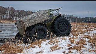 Рыбалка Весьегонск 02 2016 Fishing in Russia on ATV SHERP