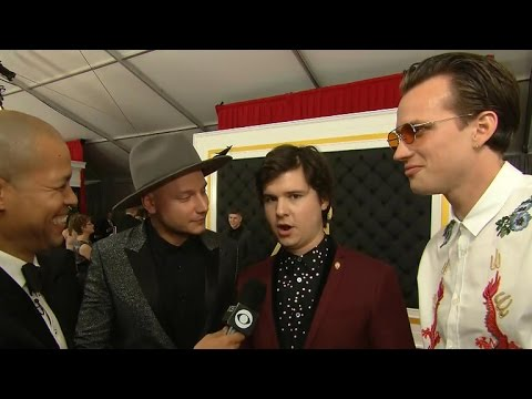 Lukas Graham interview on the red carpet