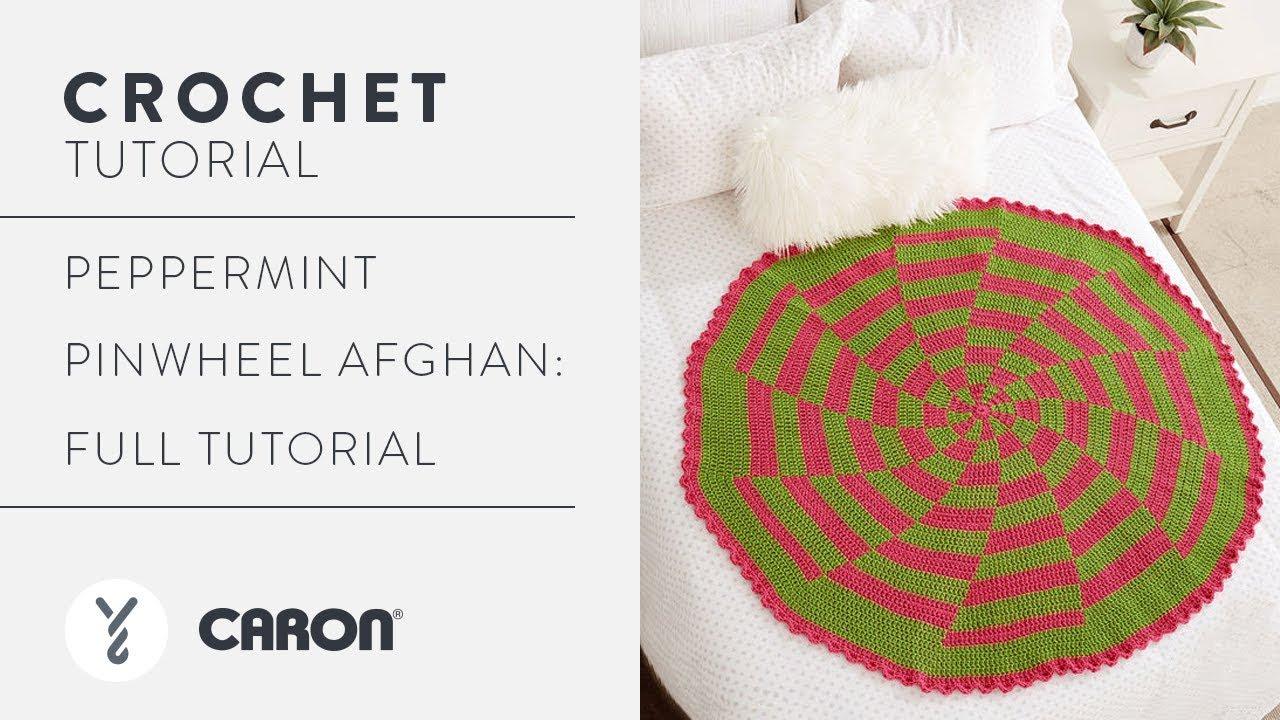 Crochet Peppermint Pinwheel Afghan Full Tutorial Youtube