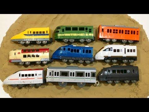 プラレール プチ電車シリーズ ダイソー 新幹線 砂遊び♪train Plarail