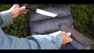 Cold Steel Tanto Lite knife tested on Lay-Z-Boy chair