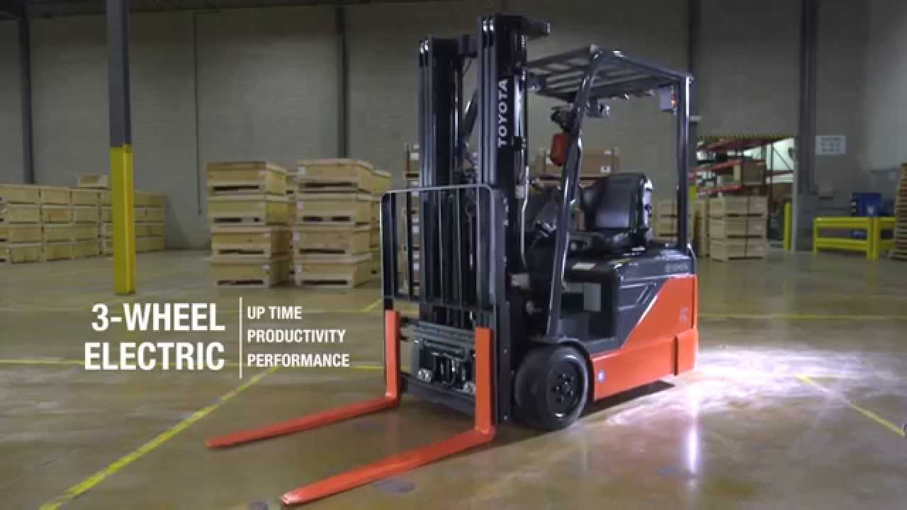 Toyota Material Handling   Products: 3-Wheel Electric Forklift
