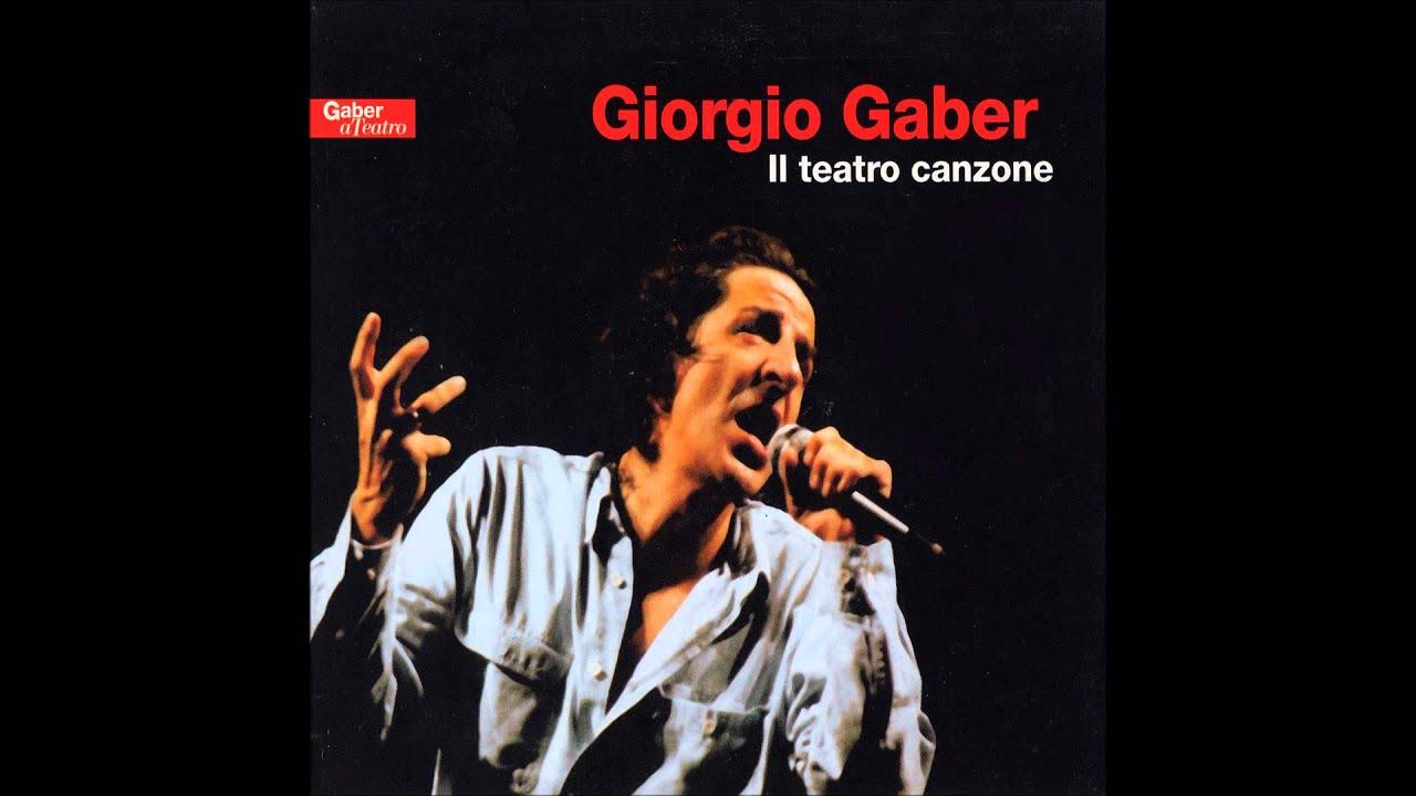 Giorgio Gaber il Teatro canzone