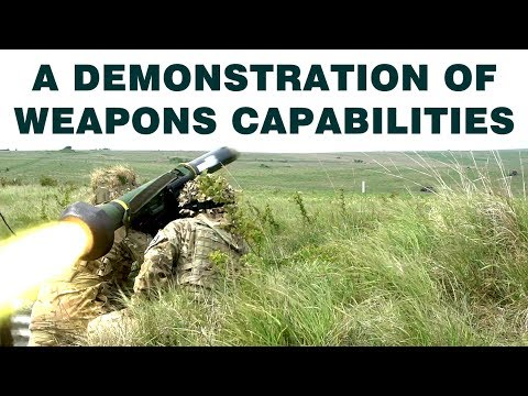 A demonstration of weapons capabilities