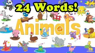 Animals Vocabulary Chant for Kids - ELF Learning - ELF Kids Videos