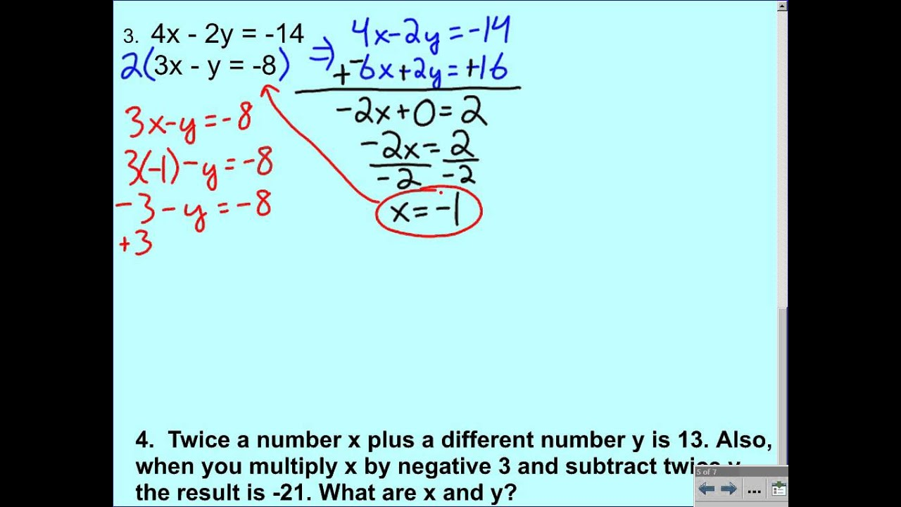 Elimination using Multiplication Additional Examples - YouTube