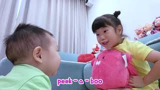 교육으로 동요와 아기의 노래를 Peek A Boo Song Mainan dan lagu ana anak