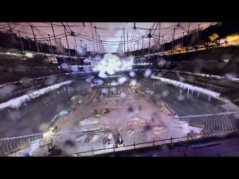 Raiders Las Vegas Stadium Allegiant Stadium Floor Waterlogged Due To Rain Through Thursday