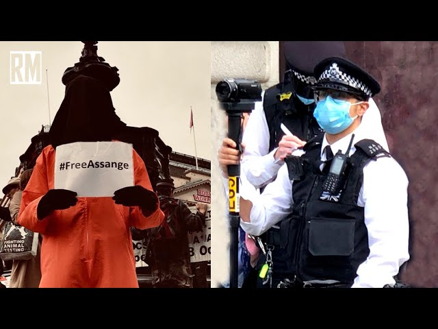 Police Break Up Peaceful Vigil for Assange