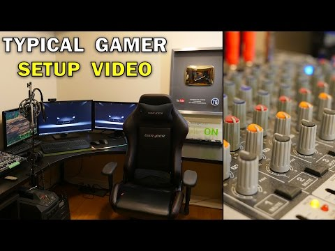 TYPICAL GAMER'S GAMING SETUP TOUR!! (Typical Gamer 500k Subscribers Special Setup)